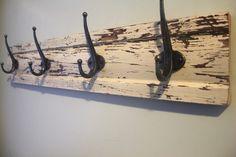 Distressed coat rack, $45