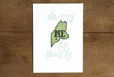 Totes love the Maryland one too... [Maine Letterpress Print #1canoe2]