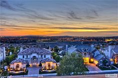 The views from The Pinnacle Estates in Vista Del Verde.  Yorba Linda, Ca. #orangecounty