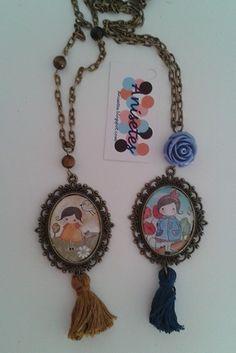 Collar con camafeos y borlas Other Accessories, Brooch Pin, Washer Necklace, Crochet Necklace, Carne, Art Ideas, Handmade, Necklaces, Vintage