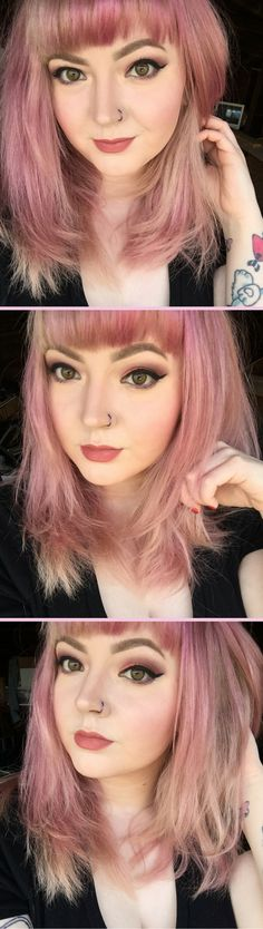 """Pink hair using Arctic Fox brand dye in """"Virgin Pink"""". This was after a few washes but you can easily get the same effect by adding a tiny amount of dye to a lot of conditioner!"""