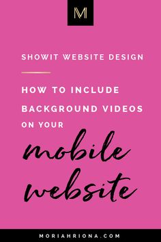 Want to add a background video to your mobile Showit website design? Click through to learn my favorite Showit 5 tip for your photography website! Free Photography Website, Photography Website Templates, Photography Portfolio Website, Brand Identity Design, Graphic Design Branding, Modern Graphic Design, Graphic Designers, Creative Typography, Logo Design Inspiration