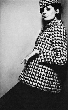 Kecia Nyman, UK Vogue photo David Bailey, 1965