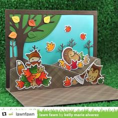 Shipping now!  New Lawn Fawn!! #lawnfawn #Repost @lawnfawn with @repostapp ・・・ Stitched Hillside Pop-up in action! Catch the full video on the blog today or at Lawn Fawn YouTube channel! #lawnfawn #lawnfawninspirationweek #stitchedhillsidepopup