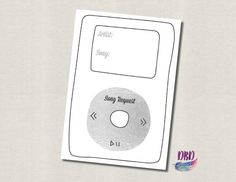 Silver iPod Song Request Wedding Card DIGITAL by DanaBaeDesigns