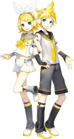 Birds of a feather, stick together! =D This specific pair of vocaloids are my favorite ones! Kagamine Rin and Kagamine Len! =3