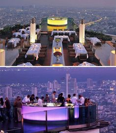 Ascend to the heights of one of Bangkok's top luxury hotels – the second-tallest building in the city – and gaze over the glass walls of the rooftop deck at the sprawling metropolis below. Not only does The Dome State Tower boast the visually thrilling Sky Bar, but the adjoining restaurant, Sirocco, is said to serve food that's even more impressive than the view.