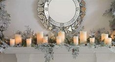 Elegant Fireplace Mantels Decor for Christmas