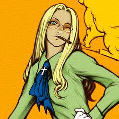 YOU ^(-(oo)-)^ ? by on DeviantArt – Typical Miracle Anime Nerd, Anime Manga, Sir Integra, Seras Victoria, Black Lagoon, T Art, Fantastic Art, Awesome, One Piece Manga