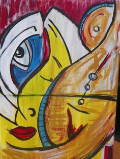 Colorful Women Series - 30x40 - Abstract art, acrylic painting