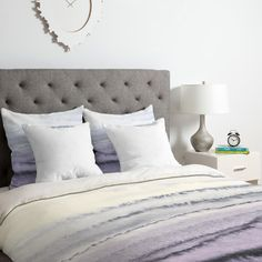 East Urban Home Monika Strigel Within the Tides Lilac Gray Duvet Cover Set Size: