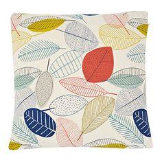 Buy John Lewis Scandi Leaves Cushion, Multi Online at johnlewis.com