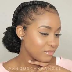 Suivez: Miah Noelle pour plus d'épingles Source: Anouschkaangel Short Afro Hairstyles, Protective Hairstyles For Natural Hair, Natural Hair Updo, Braided Hairstyles, Relaxed Hairstyles, Natural Hairstyles For Weddings, Short Black Natural Hairstyles, Natural Hair Tutorials, Little Girl Hairstyles