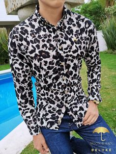 Jaguar, Camisa Slim, Stylish Shirts, Style Me, Mens Fashion, Shirt Dress, Denim, Trending Outfits, Jeans