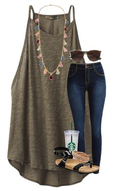 """<3"" by mallorykennerly ❤ liked on Polyvore featuring prAna, Club Monaco, WALL, Birkenstock, Chan Luu and Ben-Amun"
