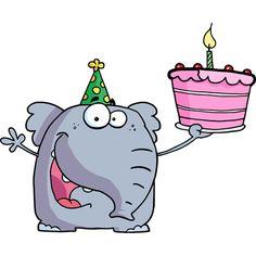 Elefante feliz cumpleaños