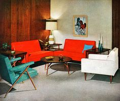 Modern Interior - detail from 1959 Viko Furniture ad.