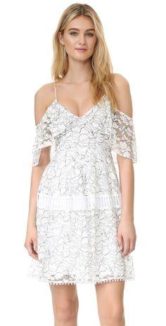 Nicholas N/Nicholas Basque Lace Dress | SHOPBOP