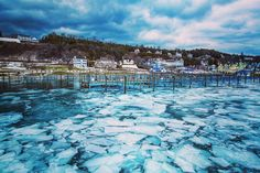 An icy Mackinac Island harbor! Always an exciting visit in the winter months! Mackinaw City, Lake Huron, Mackinac Island, Weekends Away, Grand Hotel, Winter Months, Past, Michigan, World
