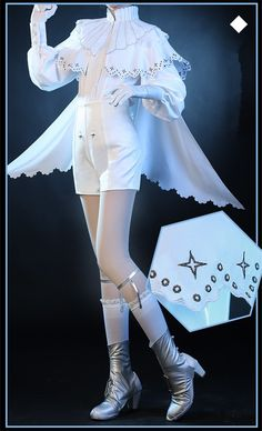 Houseki no Kuni Cosplay Antarcticite Cosplay Costume White Summer Month Costume Anime Uniforms Antar Cosplay Outfits, Anime Outfits, Mode Outfits, Old Fashion Dresses, Fashion Outfits, Boy Fashion, Pretty Outfits, Pretty Dresses, Anime Uniform