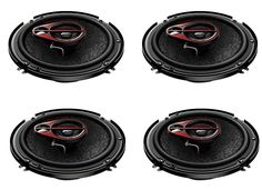 6 Inch Shallow Mount 3-Way Car Speaker (Pack of 4)1