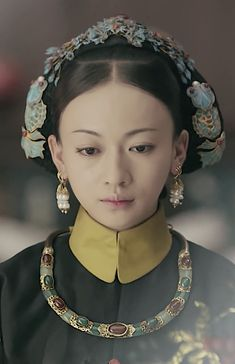 Wu Jinyan 吴谨言, Chinese actress in 'Story of Yanxi Palace' 延禧攻略, 2018 Gwen Stefani Style, Oriental Fashion, Chinese Actress, Qing Dynasty, Historical Clothing, Headgear, Chinese Style, Costume, Fashion History