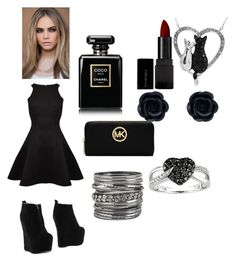 """""""Black Beauty"""" by captain-america-334 ❤ liked on Polyvore featuring Jeffrey Campbell, Ted Baker, Chanel, Illamasqua, MICHAEL Michael Kors, Ice and maurices"""