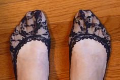 DIY lace socks for heels :) Want!