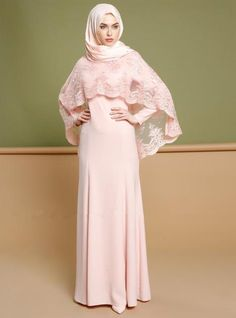 Abaya Embroidery Lace 2pcs Set