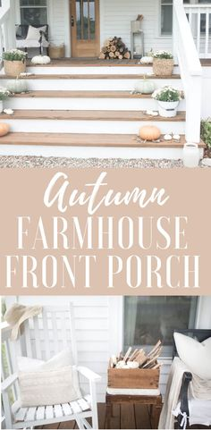 See our simple fall farmhouse front porch. For our fall farmhouse front porch this year, I kept it simple.