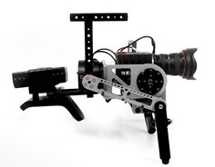 Gimbalgunner is a Cross-Over Shoulder Rig & Brushless Gimbal Camera Rig: