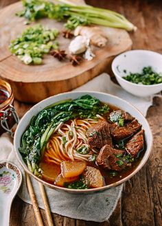 I'm not going to lie–if you put this Braised Beef Noodle Soup and my Spicy Beef Noodle Soup side by side, I would choose the latter. It's not much of a surprise, since I've been known to post some of our more throat-burning, tongue-numbing spicy Sichuan dishes, but for readers with tamer taste buds, this …