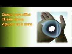 Agujero en la mano, ilusión óptica, experimento para niños