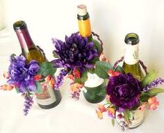 wine bottle centerpieces - Google Search