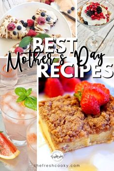 59 fantastic Recipes to Make Mother's Day More Special at Home, plus creative gift giving ideas that aren't all things! Recipes via Easy To Make Desserts, Food To Make, Passion Tea Lemonade, Mothers Day Desserts, Best Key Lime Pie, Fried Goat Cheese, Cinnamon Crunch, Good Food, Yummy Food