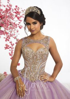 Two-Tone Tulle Quinceanera Dress by Fiesta Gowns 56344-House of Wu Fiesta Gowns-ABC Fashion