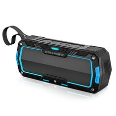 BlitzWolf Portable Bluetooth Speakers 2X5W 2000mAh IPX5 Waterresistant Hands Free Wireless MP3 Music Player for Outdoor Activity Blue *** Be sure to check out this awesome product.