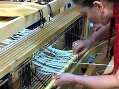 Dressing the Loom Front to Back - YouTube