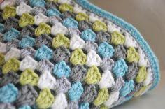 Granny Square Baby Blanket nursery bedding - Liam. $50.00, via Etsy.
