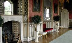 Wall covering of Strawberry Hill interior Gothick