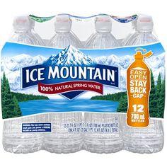 2a2db14bee ICE MOUNTAIN BRAND 100% Natural Spring Water 12-23.7 fl. oz. Bottles -  Walmart.com