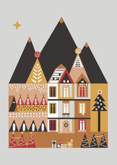 Christmas Card  Illustrations | Saskia Rasink