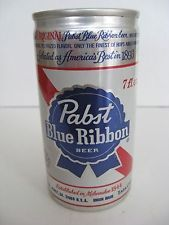 Pabst Blue Ribbon 7 Fl .Oz. Pabst Brewing 5 Cities Aluminum Beer Can