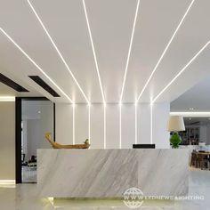Recessed Lighting Fixtures, Linear Lighting, Strip Lighting, Lighting Design, Light Fixture, Recessed Ceiling, House Ceiling Design, Bedroom False Ceiling Design, Ceiling Light Design