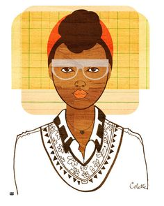 Yearbook Colette Print (African American Illustration) by Tabitha Brown