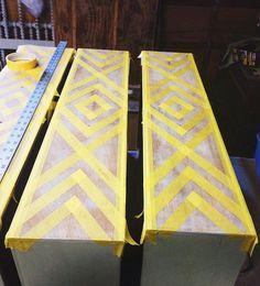 Em & Wit Furniture Design~Before and After: Tribal Dresser u.- Em & Wit Furniture Design~Before and After: Tribal Dresser using Frog Tape – Em & Wit Design – - Refurbished Dressers, Refurbished Table, Refurbished Cabinets, Diy Dressers, Furniture Projects, Furniture Makeover, Furniture Design, Luxury Furniture, Diy Dresser Makeover
