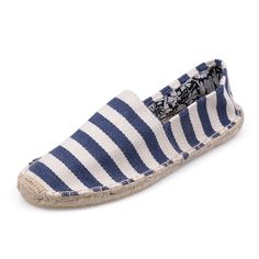Striped Toms Shoes Women Blue And White