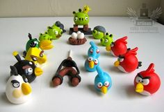 # angry bird cake toppers