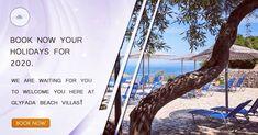 memories at Glyfada Beach Villas last forever! Book now ! Greek Restaurants, Forever Book, Beach Villa, Summer Memories, Greek Islands, Greece Travel, Villas, Resorts, Wind Turbine