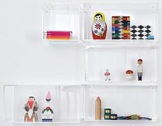 acrylic shelving from Hay